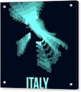Italy Radiant Map 1 Acrylic Print