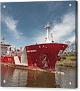 Iver Bright Tanker On The Manistee River Acrylic Print