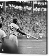 Jackie Robinson At 1955 World Series Acrylic Print