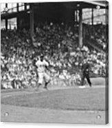 Jackie Robinson At Ebbets Field, 1956 Acrylic Print