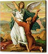 Jacob Wrestiling With The Angel  Acrylic Print