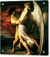 Jacob Wrestling With The Angel, 1865  Acrylic Print