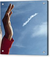 Jan Armstrong Watches Apollo 11 Launch Acrylic Print