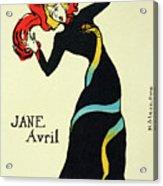 Jane Avril, 1899. Artist Henri De Acrylic Print