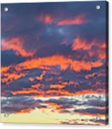 January Sunset - Vertirama 3 Acrylic Print