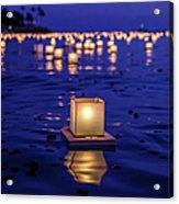 Japanese Floating Lanterns Acrylic Print