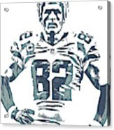 Jason Witten Dallas Cowboys Pixel Art 22 Acrylic Print