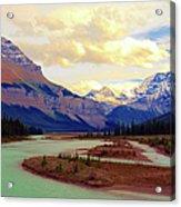 Jasper Rockies Acrylic Print