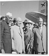 Jawaharlal Nehru And Indira Gandhi Acrylic Print