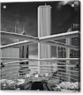 Jay Pritzker Pavilion Infrared Acrylic Print