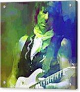 Jeff Beck, Love Is Green Acrylic Print