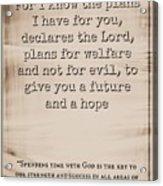 Jeremiah 29 11 Acrylic Print