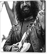 Jerry Garcia Performs Live Acrylic Print
