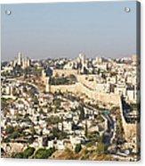 Jerusalem City Wall From A Distance Acrylic Print