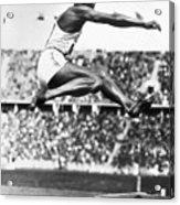 Jesse Owens In Midair Acrylic Print
