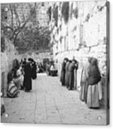 Jewish People At The Western Wall Acrylic Print