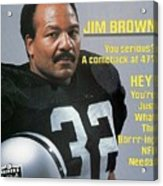 Jim Brown, Retired Football Player Sports Illustrated Cover Acrylic Print