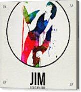 Jim Watercolor Poster Acrylic Print