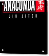 Jiu Jitsu Black Belt Anaconda Light Gift Martial Arts Bjj Acrylic Print