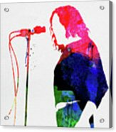 Joe Cocker Watercolor Acrylic Print