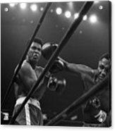 Joe Frazier Punches Muhammad Ali Acrylic Print