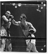 Joe Louis And Rocky Marciano Boxing Acrylic Print