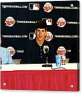 Joe Mauer Press Conference Acrylic Print