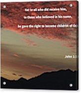 John 12 Acrylic Print