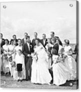 John And Jackie Kennedy On Wedding Day Acrylic Print