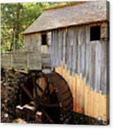 John Cable Mill In Cades Cove Historic Area In Smoky Mountains Acrylic Print