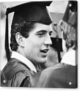 John F. Kennedy Jr. At Graduation Acrylic Print