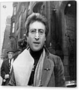 John Lennon Returning From Florist Shop Acrylic Print
