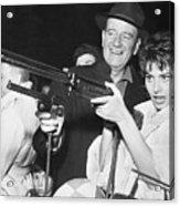 John Wayne And Sophia Loren Gun Play Acrylic Print