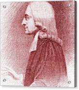 John Wesley, Anglican Minister And Christian Theologian Acrylic Print