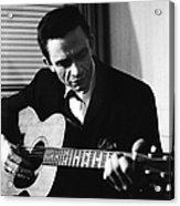 Johnny Cash At The New York Folk Acrylic Print