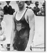 Johnny Weismuller At The 1924 Olympics Acrylic Print