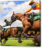 Jumping Horses Acrylic Print