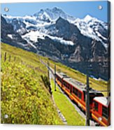 Jungfraubahn, Swiss Alps Acrylic Print
