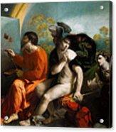 Jupiter  Mercury And Virtus Or Virgo  Acrylic Print