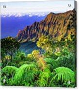 Kalalau Valley And The Na Pali Coast Acrylic Print