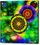 Kaleidoscope Moon For Children Gone To Soon Number - 3 Intensified  Acrylic Print