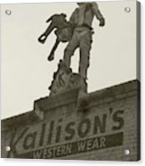 Kallison Cowboy Still Stands In San Antonio Acrylic Print