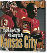 Kansas City Chiefs, 1996 Nfl Football Preview Issue Sports Illustrated Cover Acrylic Print