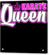 Karate Queen Cute Martial Arts Training Acrylic Print