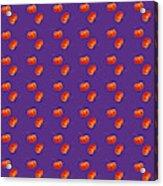 Kawaii Pumpkin Purple Acrylic Print