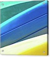 Kayak Angles And Colors Abstract II Acrylic Print