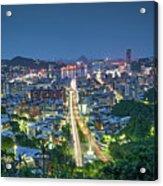 Keelung City Skyline Acrylic Print