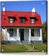 Keeper's House - Presque Isle Light Michigan Acrylic Print