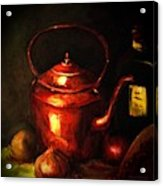 The Red Kettle Acrylic Print