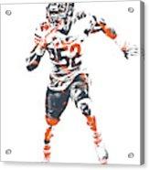 Khalil Mack Chicago Bears Pixel Art 1 Acrylic Print